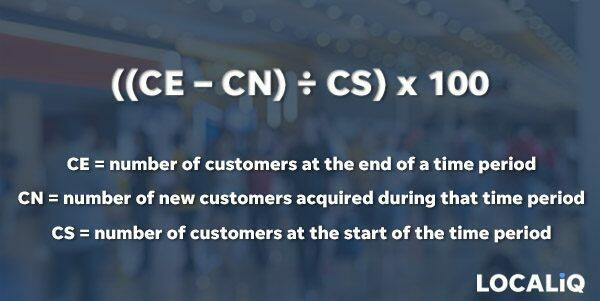 Formula for calculating Customer Retention Rate