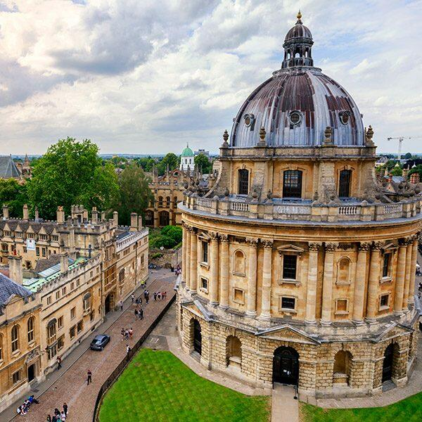 Sunny day at Radcliffe Camera, in Oxford UK England Oxfordshire