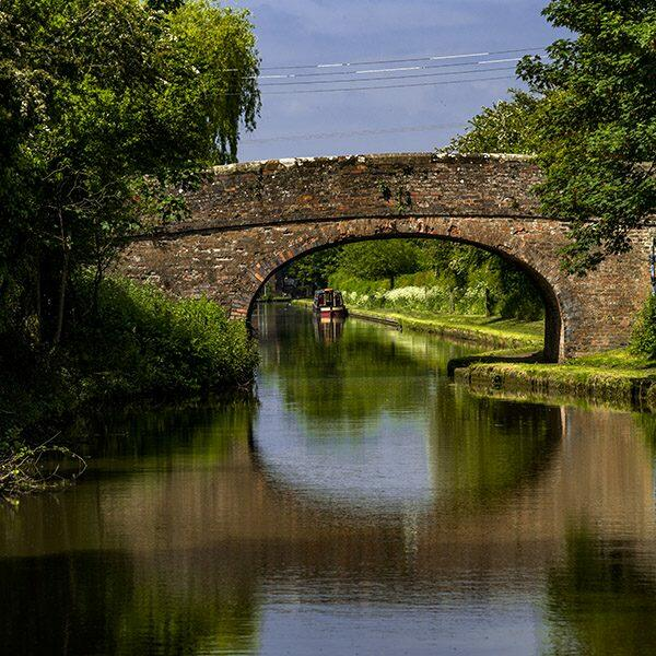 View of the canal in Worcester, England